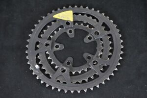 SHIMANO DEORE BIOPACE Chainrings Black Steel 48/38/28T 7S 8S 110/74 BCD