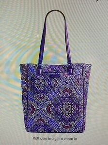 NWT Vera Bradley Women's Crosstown Tote Lilac Tapestry Tote