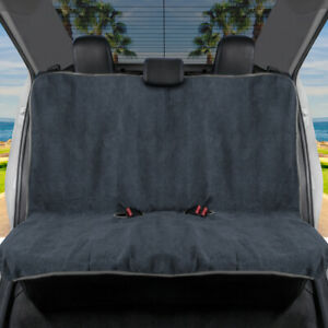 BDK UltraFit Waterproof Towel Car Seat Cover, Rear Bench Cover with Gray Trim
