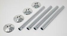 4 X Chrome Radsnaps Radiator Pipe Covers Collars - UK Delivery