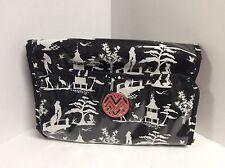 Macbeth Collection folding make up travel bag organizer black white pink H38