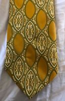 Lilly Dache Gold Green with chain Silk Neck Tie
