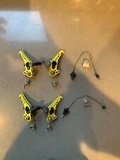 sTRP RevoX Carbon Cantilever Yellow Cyclocross Gravel Brakeset w/ Zipp Pads