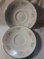 SET OF 2 JAPAN CARLTON CHINA CORSAGE FLORAL saucers 481