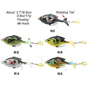 3.7in Topwater whopper plopper Fish Lure 17g Rotating Tail Spoon Fishing Baits