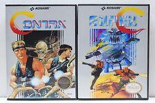 Contra 1 and Super C (Contra 2) - NES Custom Cases Set - NO GAMES