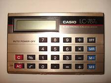 VINTAGE Casio LC-787G Scheda Stile Calcolatrice withcase