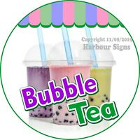 Bubble Tea DECAL (Choose Your Size) Concession Food Truck Circle Sticker