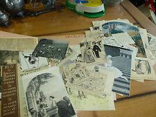 Lot d'anciennes coupures de revues / dessin / photographies