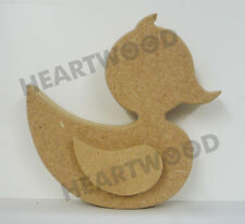 DUCK WITH WING IN MDF (125mm x18mm thick)/WOODEN CRAFT/DECORATION PLAQUE