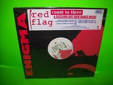 """Red Flag – Count To Three 12"""" EP Record 1990 Synth-Pop New Wave SEALED w/ Hype"""