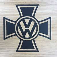 2x VW Iron Cross Decal Sticker Transporter Beetle Golf Polo Bus Camper T4 T5 T6