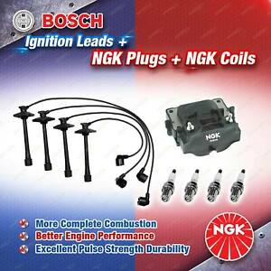 NGK Spark Plugs Coil + Bosch Leads Kit for Toyota Camry SXV10 5SFE 2.2 4Cyl 93kW