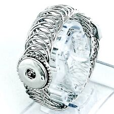 SNAP COIL BRACELET Fits Ginger Snaps Interchangeable JEWELRY Button Charms 18mm