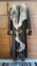 Genuine SHEARLING Jacket Real Sheepskin Toscana Lambs fur Suede leather COAT