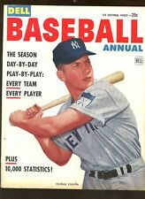 1953 Dell Baseball Annual Mickey Mantle New York Yankees Front Cover EX+