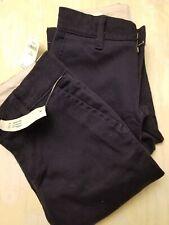 Gap Nwt Lot of 2 Girls Navy Classic Chinos School Uniform Pants Size 6 Slim New