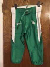 NIKE ADULT FOOTBALL PANTS KELLY GREEN WHITE STRIPE EAGLE LOGO LOT OF 161