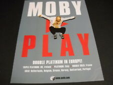 MOBY 2000 Promo Display Ad PLAY is Double Platinum In Europe! mint condition
