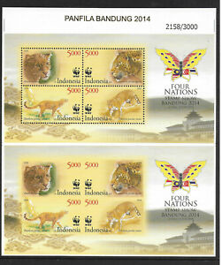 Indonesia,2014,WWF,proofs,perf.+imperf,compl,MNH