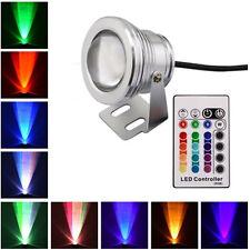 10W RGB LED Unterwasserbeleuchtung DC12V Wasserdicht Strahler Fluter Lampe