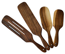 Wooden Spoons For Cooking - Kitchen Utensils - Spatula Set Walnut Wood Spurtl...