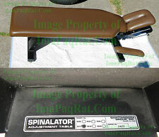 Chattanooga Therapy Bench w/ Tilt Head Soft Foam Spinalator Adjustment Table