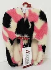 Dearfoams Slippers Women's Closed Toe Clog PINK CAMOU Size:MED US 7-8 - M3