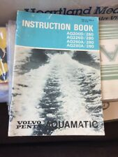 VOLVO PENTA AQUAMATIC BOAT MOTOR ENGINE INSTRUCTION BOOK AQ200D 225D 260A 290A