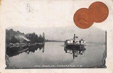 Steamer Rustler Newcastle NB 1904 1 Cent Coin Postcard