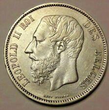 5 Francs, 5 Frank 1867 <<==>> 1875  Zilver België Leopold II KM# 24 Belgique