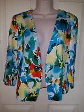 Kim Rogers Ladies Multicolor Floral Blazer Light Cotton/Spandex Sz. Small