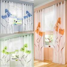 CH:Schlaufenschal Dekoschal Vorhang Gardine Gardinenschal Schlaufen Blumenmuster