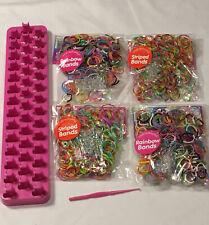 Strong Loom Board Hook 1000 Rainbow Brights Pastels Rubber Bands Bracelet Maker