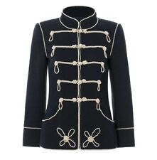 Military Wool Jacket With Faux Pearl Embellishment SZ M Fits Like XS/0