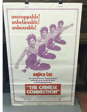 BRUCE LEE-THE CHINESE CONNECTION-ORIGINAL US ONE SHEET-MOVIE POSTER-NICE-6.5