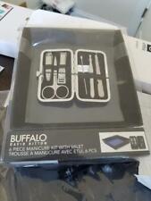 Buffalo David Bitton 6 Piece Manicure Kit With Valet -New