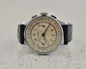DENOMA by Hyde Park Watch Co stainless steel Vintage 1950 2-register Chronograph