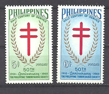 PHILIPPINES , 1960 ,  TB SOCIETY , SET OF 2 ,  PERF,  MNH