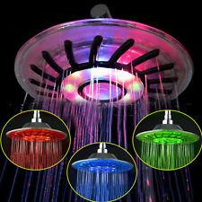 8'' Duschkopf Duschbrause Regendusche Handbrause LED Farbwechsel Kopfbrause