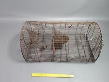 Antico trappola topo in metallo tostatura vintage francese antico topo trap