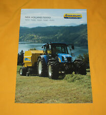 New Holland T 5000 Traktor 2009 Prospekt Tractor Brochure Catalog Broschyr