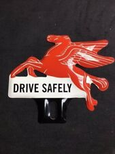 Mobil Flying Pegasus License Plate Topper Chevy Ford Pontiac Buick Hudson VW
