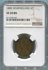 1885 Newfoundland Large 1 Cent. NGC VF20 Brown