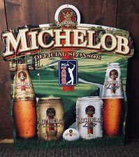 Michelob 1997 Pga Tour Metal Advertising Sign 26�x 30�