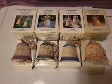 4 Goebel M.I. Hummel Christmas Bells 1989, 1990, 1991, 1992 - Lot of 4 in Boxes