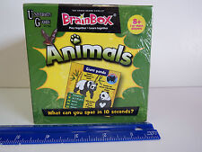 University Games BRAIN BOX The Green Board Game ANIMALS -A 10 Minute Challenge