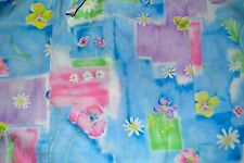 Women's Barco Scrubs Size XS Long Sleeve Blue Floral Print Button Down Front EUC