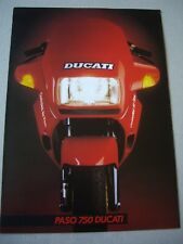 Ducati Paso 750 sales brochure