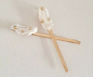 Real Pearl Bead Gold Hair Clip Slide One Other Bloggers Stories